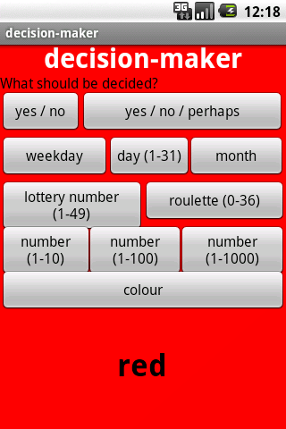 screenshot from decision-maker